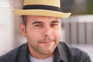 Young Man Wearing Porkpie Hat --- Image by © Steve Prezant/Corbis