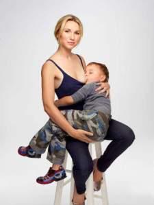 Jamie Lynne Grumet of Los Angeles and her son, age 3.